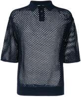 Jil Sander mesh polo shirt
