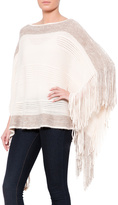 Raj Striped Fringe Poncho