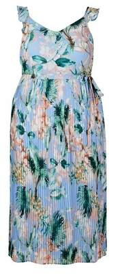 Dorothy Perkins Womens **Dp Curve Tropical Print Midi Dress