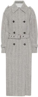 Brunello Cucinelli Herringbone alpaca and wool coat
