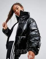 Asos High Shine Patent Puffer Jacket