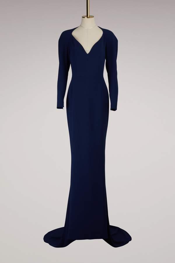 Stella McCartney Layla Cady Stretch Maxi Dress