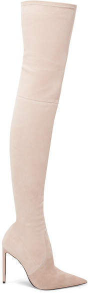 Tom Ford Stretch-suede Over-the-knee Boots - Cream