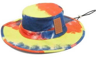 Loewe Paula's Ibiza - Tie-dyed Cotton-denim Explorer Hat - Yellow Multi