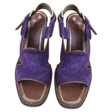 Prada Purple Suede Sandals
