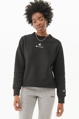 Champion Classic Crew Neck Sweatshirt - Black XS at Urban Outfitters