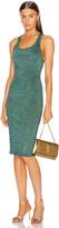 Cushnie Scoop Neck Sleeveless Knit Dress in Navy Iridescent   FWRD