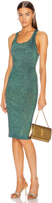 Cushnie Scoop Neck Sleeveless Knit Dress in Navy Iridescent | FWRD