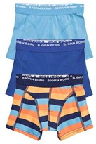 Bjorn Borg 3 Pack Contrast Stripe and Blue Trunks