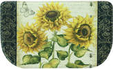 "Bacova Berber French Sunflower Friends 18"" x 31.5"" Slice Kitchen Rug"