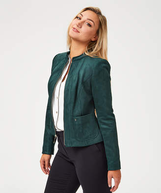 Tommy Hilfiger Women's Bombers FOREST - Forest Green Smooth Zip-Up Jacket - Women