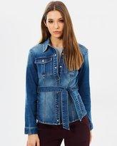 Karen Millen Belt Detail Denim Jacket