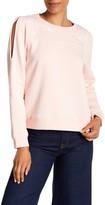 Rebecca Minkoff Jenn Embroidered Cold Shoulder Sweatshirt