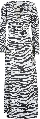ATTICO Zebra Print Long Dress