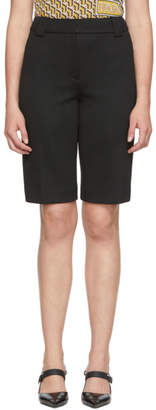 Prada Black Jersey Bermuda Shorts