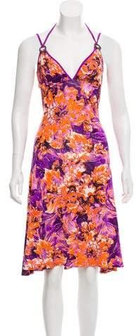 Just Cavalli Printed Midi Dress