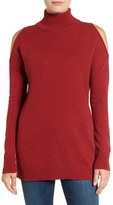 Halogen Cold Shoulder Turtleneck Sweater (Regular & Petite)