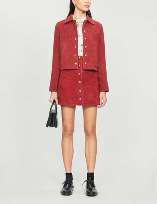 Claudie Pierlot Cachoue suede jacket