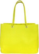 Neon Yellow Open Tote