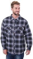 Dickies Big & Tall Classic-Fit Plaid Sherpa-Lined Shirt Jacket