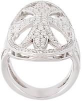 Loree Rodkin oval gothic cigar bank diamond ring