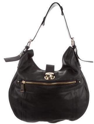 4b1d6bf7a Marc Jacobs Black Leather Hobo - ShopStyle