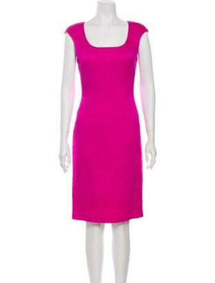 Oscar de la Renta 2013 Knee-Length Dress Pink