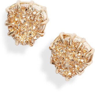 Halogen Prong Set Round Stud Earrings