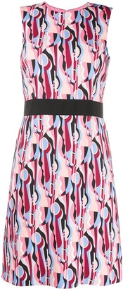 Emilio Pucci Abstract-Print Sleeveless Dress