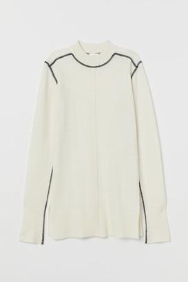 H&M Fine-knit Sweater - White