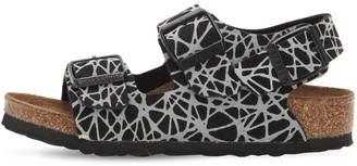 Birkenstock Reflective Faux Leather Sandals