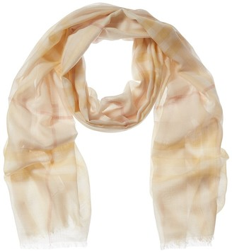 Burberry Giant Check Wool & Silk-Blend Scarf