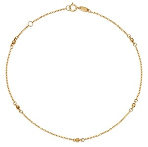 Moon & Meadow Beaded Ankle Bracelet in 14K Yellow Gold - 100% Exclusive