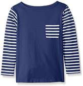 Scout + Ro Little Girls' Long-Sleeve Stripe-Block Jersey T-Shirt