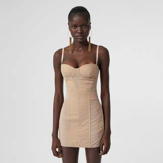 Burberry Cotton Gabardine Corset Dress