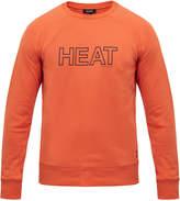 Ron Dorff Orange 'Heat' Cotton Sweatshirt