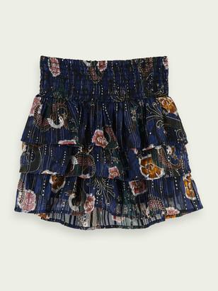 Scotch & Soda Printed smocked mini skirt | Girls