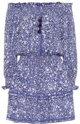 Poupette St Barth Sylvia floral off-shoulder minidress