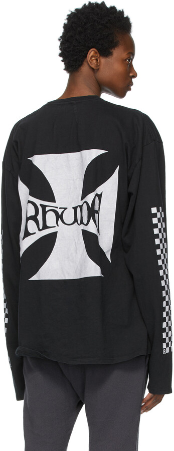 Thumbnail for your product : Rhude Black Classic Checkers Long Sleeve T-Shirt