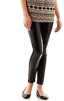 JCPenney Faux-Leather Front-Panel Leggings