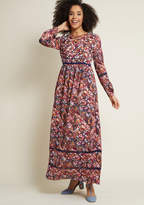 Ravishing Matters Floral Maxi Dress in L - Long A-line by ModCloth