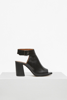 French Connection Cut Out Heeled Leather Booties