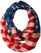D&Y Women's Vintage American Flag Scarf