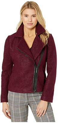 Liverpool Zip-Up Moto Jacket in Soft Boucle