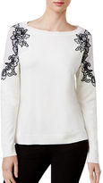 I.N.C International Concepts Petite Lace-Up Sweater