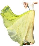 wolfsea Giant Swing Full Circle Skirt Elastic Pleated Maxi Skirt S