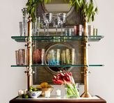 Pottery Barn Plaza Entertaining Stand, Gold