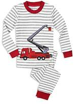 Sara's Prints Boys' Fire Truck Pajama Shirt & Pants Set - Little Kid