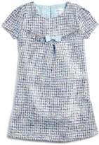 Us Angels Girls' Tweed Shift Dress with Bow