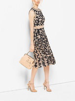 Michael Kors Floral Silk-Georgette And Chantilly Lace Dress